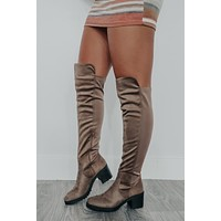 Take A Tour Boots: Taupe