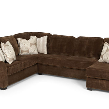The 199 True Sectional with Chaise Full Sleeper Sofa by Stanton