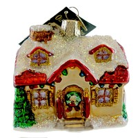 Old World Christmas Holiday Home Ornament Cottage - 20032