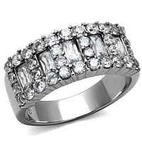 Mens Engagement Rings TK2866 Stainless Steel Ring with AAA Grade CZ