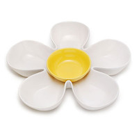 WHITE DAISY CHIP AND DIP SERVER | Flower Serving Plate | UncommonGoods