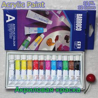 12 Colors Acrylic Paint Color Set Professional Acrylic Paints Pigment for Artists 12 Tubes 12ML Nail Art Painting Drawing Tool