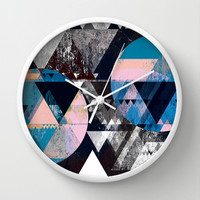 Graphic 4 Z Wall Clock by Mareike Böhmer Graphics