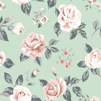 Blossom on Green Removable Wallpaper