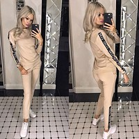 GUCCI Fashion Women Casual Print Pullover Top Sweater Pants Trousers Set Two-Piece