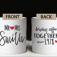 40th Wedding Anniversary Gift, Wedding Anniversary Mug, Anniversary Gift, Ruby Anniversary, Mr Mrs Personalized Mug, Parent's Anniversary