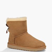 Ugg Mini Bailey Bow Womens Boots Chestnut  In Sizes