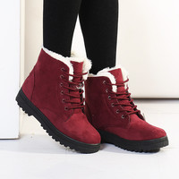 Women's Warm Winter Snow Boots Fashion Ankle Shoes