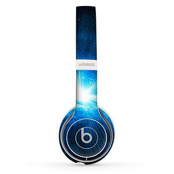 The Bright Blue Earth Light Flash Skin Set for the Beats by Dre Solo 2 Wireless Headphones