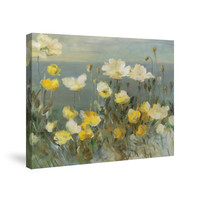 Field of White Poppies Canvas Wall Art