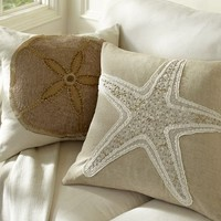 Jeweled Applique Pillow Cover