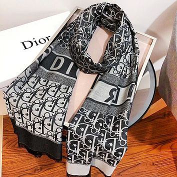 Dior New fashion more letter print leisure scarf women