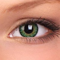 Hyper Green Cosmetic Lens with Prescription