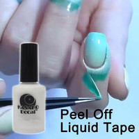 15ml Peel Off Liquid Tape & Peel Off Base Coat Nail Art Liquid Palisade Keep Fingers Clean = 1929959876