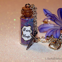 Fairy Magic Necklace and Sword of Truth Charm Disney Sleeping Beauty by Life is the Bubbles