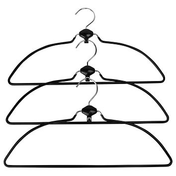 Evelots Swivel Nonslip Rubber Coated Metal Cascading Space Saver Hangers