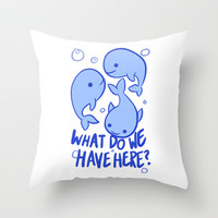 Whale Whale Whale Throw Pillow by LookHUMAN