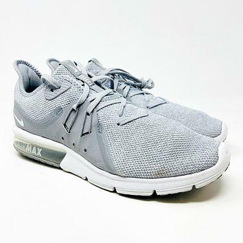 Nike Air Max Sequent 3 Wolf Grey Pure Platinum 921694 003 Mens Size 8.5