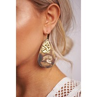 Before Dawn Dangle Earrings (Brown)