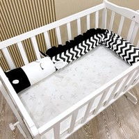 2m/3m Baby Bed Bumpers Black and White Zebra New  Doll Pillow Cushion,Nursery Bedding,cot Crib Cushion Room Dector Decoration