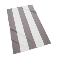 Block Stripe Beach Towel  | Charcoal