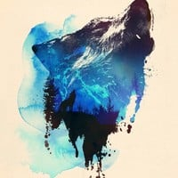 """Alone As A Wolf"" - Art Print by Robert Farkas"