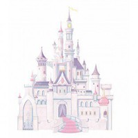 Room Mates Licensed Designs Disney Princess Castle Peel and Stick Giant Wall Decal - RMK1546GM - All Wall Art - Wall Art & Coverings - Decor