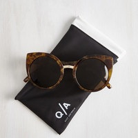 Vintage Inspired In a Sass of Your Own Sunglasses by Quay from ModCloth