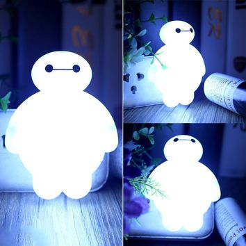 BayMax Sensor LED Night Light Bedroom Bulb Energy Saving Cute Lamp Decoration