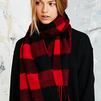 Buffalo Plaid Scarf in Red - Urban Outfitters