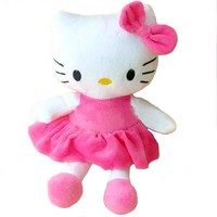 Plush Baby Toy Hello Kitty Musical Rattle for Crib, Bed, Stroller, or Hanging Doll