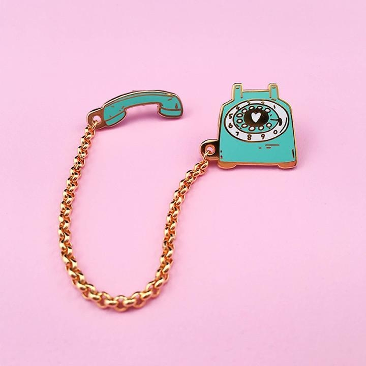 Image of Rotary Dial Telephone Pin - Mint
