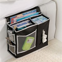 Bedside Storage Caddy - Black