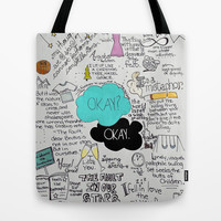 The Fault in Our Stars- John Green Tote Bag by Natasha Ramon