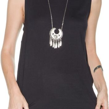 RVCA UNSEEN LACE UP MUSCLE TEE
