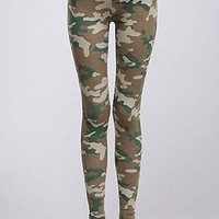 Women Sexy MILITARY Army Camouflage Printed Stretch Leggings Ankle Tights
