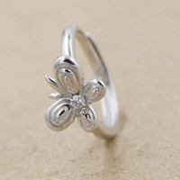 Shiny Jewelry New Arrival Gift 925 Silver Stylish Butterfly Diamonds Ring [7652915143]