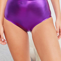 Out From Under Metallic High-Waisted Brief | Urban Outfitters
