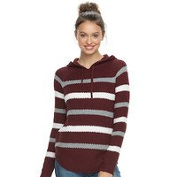 Juniors' Cloud Chaser Hooded Knit Top | null