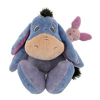 "disney parks floppy eeyore & piglet 15"" plush toy new with tags"