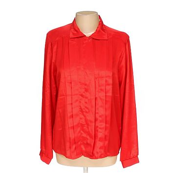 Jeri Marque Womens Button-up Shirt size 10, red, americana girl, basic