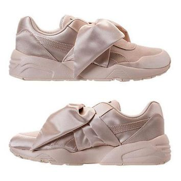 PUMA X FENTY RIHANNA BOW SNEAKER COLLECTION WOMEN's CASUAL AUTHENTIC PINK TINT