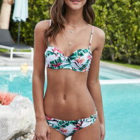 LA Hearts Knotted Tropical Print Push Up Bikini Top at PacSun.com