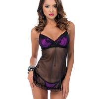 Lace Overlay Baby Doll