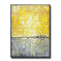 UPGRADE for CHRISTY - CANVAS PRINT Art Yellow Grey Abstract Painting Canvas Prints Contemporary Beach Coastal Wall Art