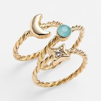 Carole 'Celestial' Stackable Rings (Set of 3) (Juniors)