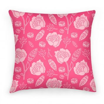 Floral and Leaves Pattern (Pink)