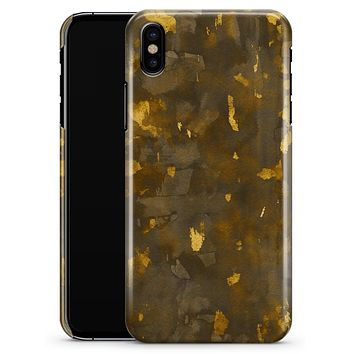 Abstract Dark Gray and Golden Specks - iPhone X Clipit Case
