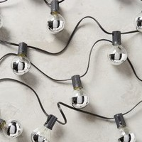 Dipped Bulb String Lights by Anthropologie in Silver Size: One Size Lighting