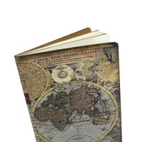 Vintage Style Travel Journal - World Map Notebook - Vacation Diary